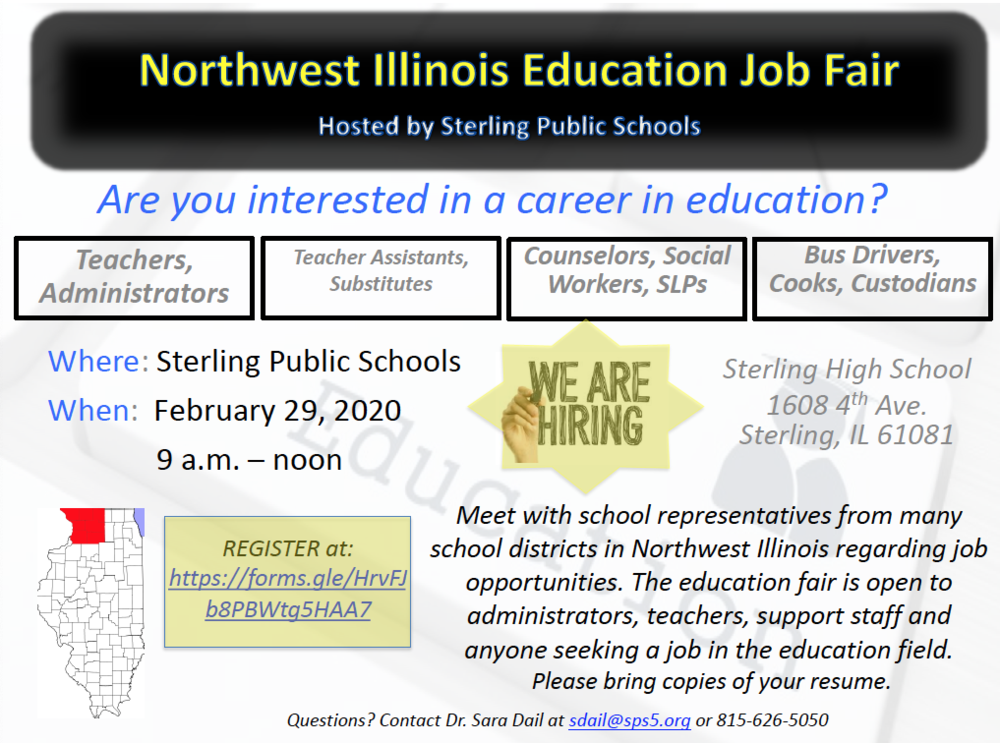 SPS hosting the Northwest Illinois Education Job Fair!