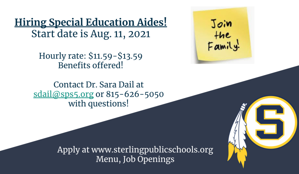 Hiring Special Education Aides!