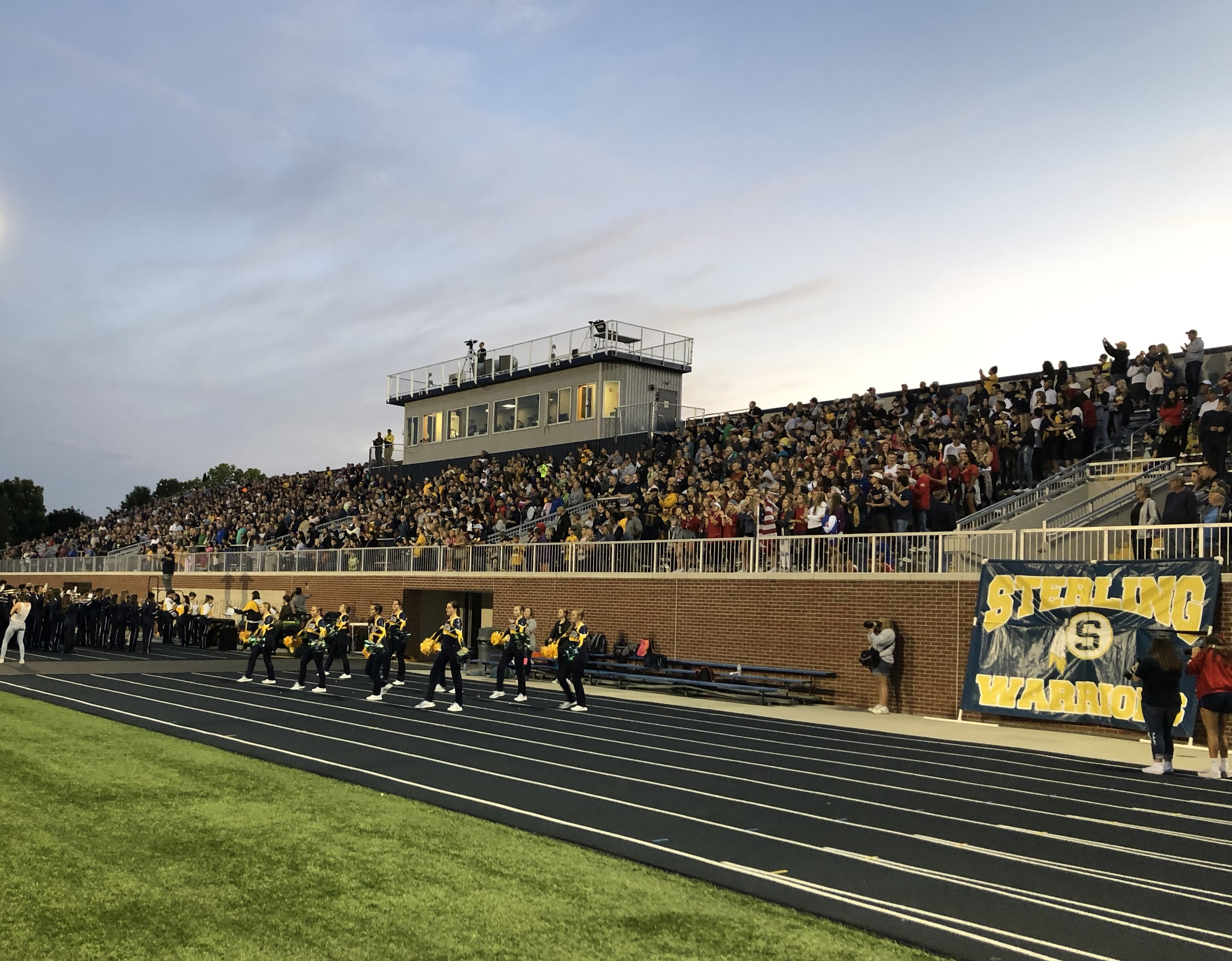 Roscoe Eades Stadium at a home football game